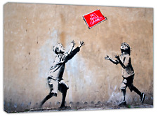 BANKSY KIDS NO BALL GAMES ART PAINT PRINT ON FARMED CANVAS WALL ART HOME DECOR