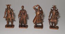 "Komplettsatz Metallfiguren ""Japanische Samurai um 1600"" (K93 n 139 - 142) (4)"