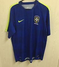Nwt Men's Nike Brazil Dri-Fit Flash Pre-Match Training Soccer Jersey - Xl - $65