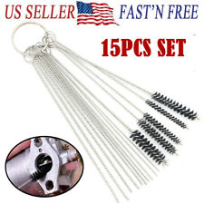 15PCS Carburetor Cleaning Kit Cleaner Brushes Motorcycle Part Remove Tool