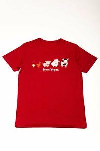 'Team Vegan' (Male) T-Shirt - Organic Sustainable Clothing Gift