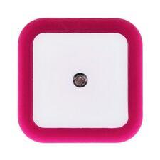 Rose Red Auto LED Induction Sensor Control Bedroom Night Light Bed Lamp US Plug
