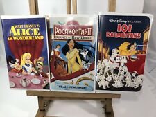 Alice in Wonderland, Pocahontas II & 101 Dalmations VHS BUNDLE Disney Movie Lot