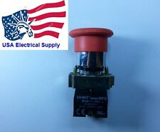 New  Heavy Duty 22mm  RED Mushroom 1NC Emergency Stop Push-button Switch