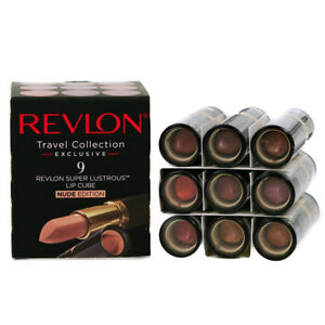 Revlon Super Lustrous Nude Lipstick Set 9 Shades - Natural Pink Coral Brown New