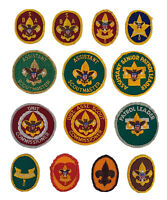 (14) Vintage Round/ Oval Position Patches BSA Boy Scouts of America Collectibles