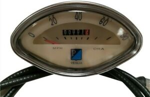 NEW VESPA CLAMSHELL SPEEDO 0-80M FREE CABLE VBB SPRINT CLAM SHELL