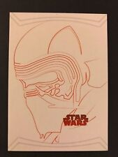 2017 Star Wars The Last Jedi #RL-2 Kylo Ren Red Character Illustrations