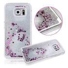 Étui Housse Coque Liquide Paillettes Etoiles Pour Samsung galaxy S6 S7 Edge S8 +
