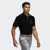 Men's Black Golf Polo PGA sponsor logo Mercedes, Srixon, RBC, and CMG