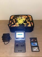 Nintendo Game Boy Advance, GBA SP AGS-101 Graphite With Carrying Case And Games