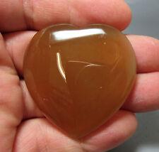 Carnelian Flat Heart - 45mm - Crystal Healing