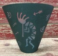 Partylite Green Kokopelli Metal Wall Sconce Tealight Candle Holder
