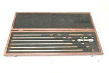 Starrett 823m Inside Micrometer Set 50mm 450mm With Wooden Case B