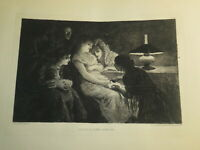 Josep LLOVERA BOFILL (1846-1896)  EAU FORTE ORIGINALE ESPAGNE VOYANCE FEMMES