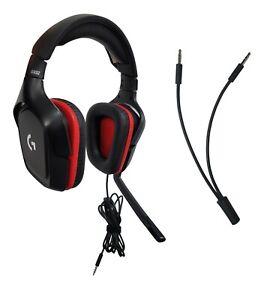 Logitech G332 Estéreo con Cable Auriculares para Juegos Para PC, PS4, Xbox Uno ,
