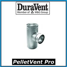 """DURAVENT PELLETVENT PRO Pipe 4"""" Increaser Tee with Clean Out Cap #4PVP-T3 NEW!"""