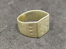 Metal Old Artifact carved Very Rare Ring Handmade Ancient Antique Viking Style