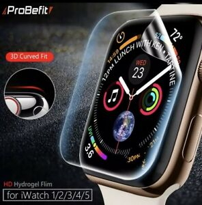 FITS APPLE WATCH PK 2 CLEAR FULL COVERAGE PROTECTIVE GEL COVER 123456  38-44MM
