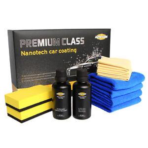 1 Set(2) Premium 9H Liquid Car Ceramic Glass Coating Crystal Nanotech Paint Kit