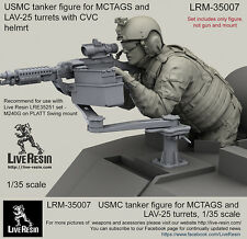 Live Resin 1/35 USMC Tanker for MCTAGS and LAV-25 Turrets with CVC Helmet
