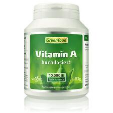 Greenfood Vitamin A, 10000 iE, extra hochdosiert, 180 Kapseln ? vegan