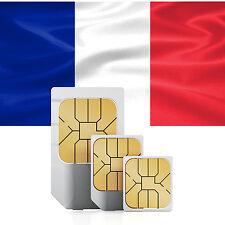 Frankreich Daten SIM + 2000 MB für 30 Tage