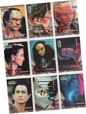 "Star Trek DS9 Memories From The Future: 9 Card ""Greatest Alien Races"" Set AR1-9"
