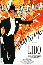 Original Vintage Poster Bravissimo Lido by Rene Gruau 1990 French Burlesque