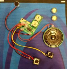 Speaker 8 ohm .5 Watt Low Profile & Condenser Mic Assembled + 2 LR44 Batteries