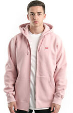 Small Box Zip-Up Hoodie - Dusty Pink