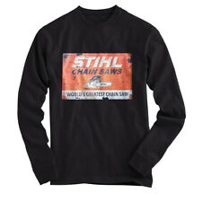 POWERED BY STIHL 2 - T SHIRT Long Sleeves Black All Size