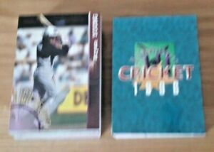 Set of 90 Futera Card Crazy Authentics 1996 High Velocity Cricket Cards