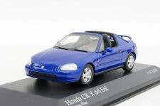HONDA CR-X DEL SOL 1993 BLUE METALLIC MINICHAMPS 400161931 1/43 BLAU BLEU METAL