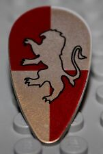 LeGo Castle Light Gray Shield Ovoid w/ HP Gryffindor Pattern Golden Lion