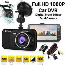 Dual Lens Car DVR Dash Camera Front Rear Video Recorder HD 1080p G-sensor Black