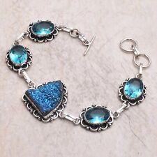 Bracelet Jewelry 22 Gms Ab 67531 Titanium Druzy Blue Topaz Ethnic Handmade