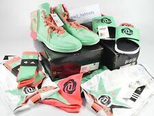 Lot of Adidas D-Rose 4 Boardwalk Size 14 Shoes, XL Shorts, Shirts, Socks, Slides