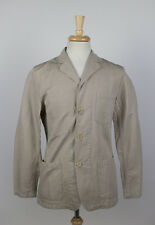 NWT. VETRA Overdyed Khaki Cotton-Linen Blend Jacket Size 56/46 R $350