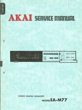 Akai EA-M77 Equalizer Manual Schaltplan ORIGINAL