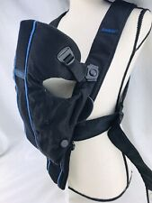"""Baby Bjorn Infant Carrier 8-25lbs 21-26"""" Front Back Black Breathable Wide Strap"""