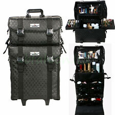 UNHO 2 In1 Pro Makeup Artist Trolley Case Soft Cosmetic Storage Drawers Suitcase