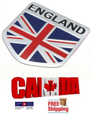 Aluminum Car Truck England UK Flag Union Jack Emblem Badge Decal Decor Sticker