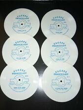 Lot 6 disques souples 45 trs succés France Lait Hardy trenet Hadjidakis