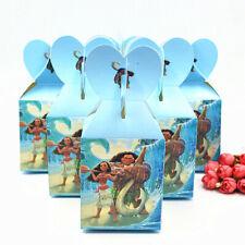 12 Pcs Moana Maui Girls Theme Candy Box Kids Birthday Party Supplies Favors Gift