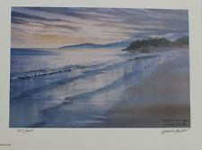 Grant Fuller Hand Signed Numbered Limited Edition Twilight at Long Beach 1990
