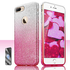 For Apple iPhone 7/7 Plus Bling Glitter Hybrid Rubber Hard Protective Case Cover