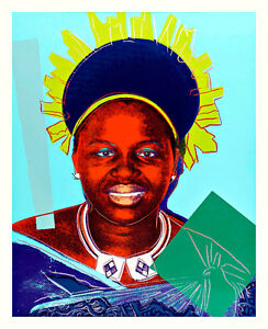 African Queen by Andy Warhol 54cm x 44cm High Quality Art Print