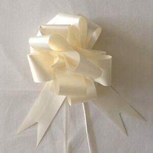 Pull Bows Ribbon Ivory x 3 - 50mm wide - Florist Ribbon