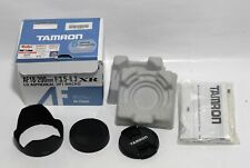 accessori TAMRON AF 18-200 FOR CANON box - manual - back front cap - hood lens